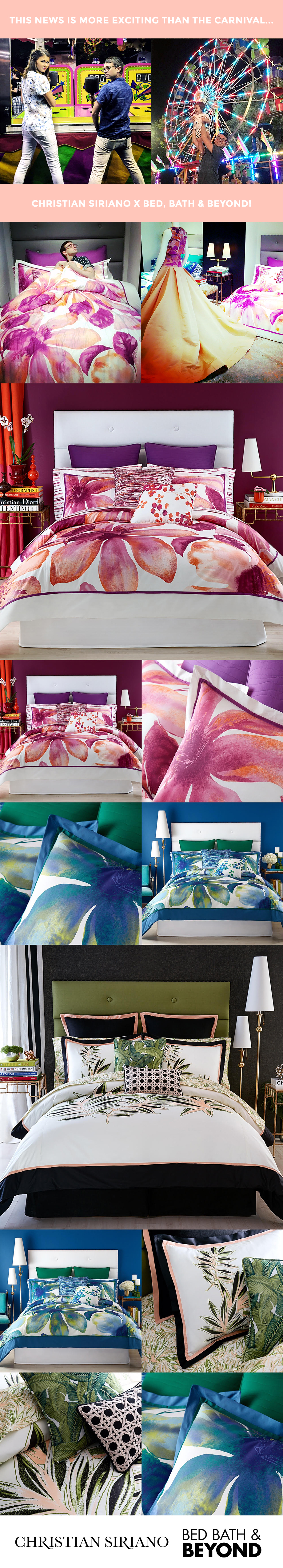 This is a post about Christian Siriano's new home collection at Bed, Bath & Beyond.