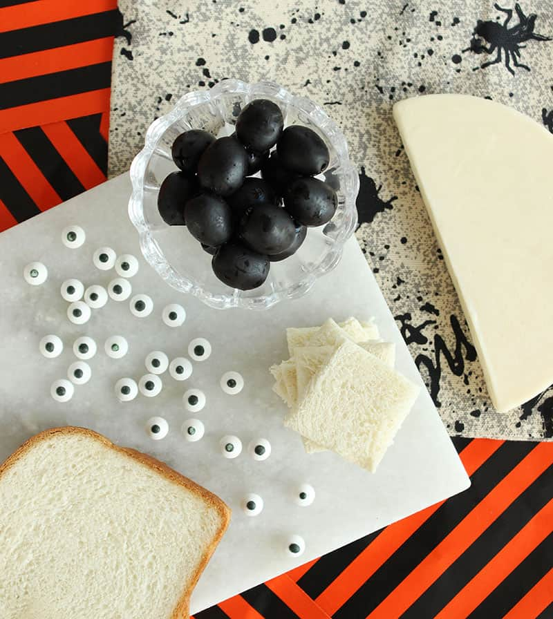 An easy Halloween recipe for Spooky Mummy Sandwiches.