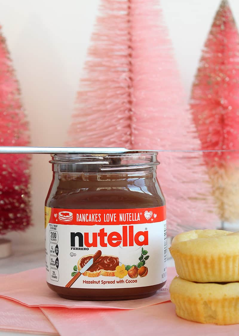 A quick and easy recipe for Nutella Stuffed Pancake muffins.