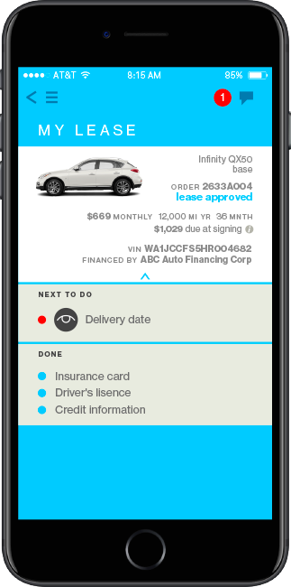 Lease a car with the Honcker app.
