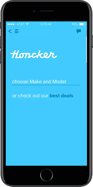 Honcker car leasing app.
