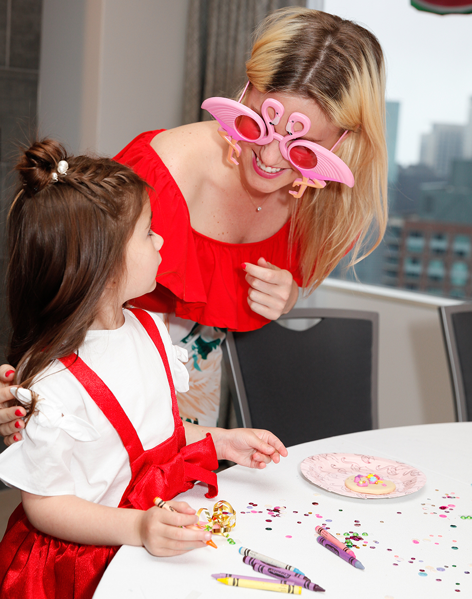 Zelda of Glitter and Bubbles plays with Make to Celebrate at the Swissotel.