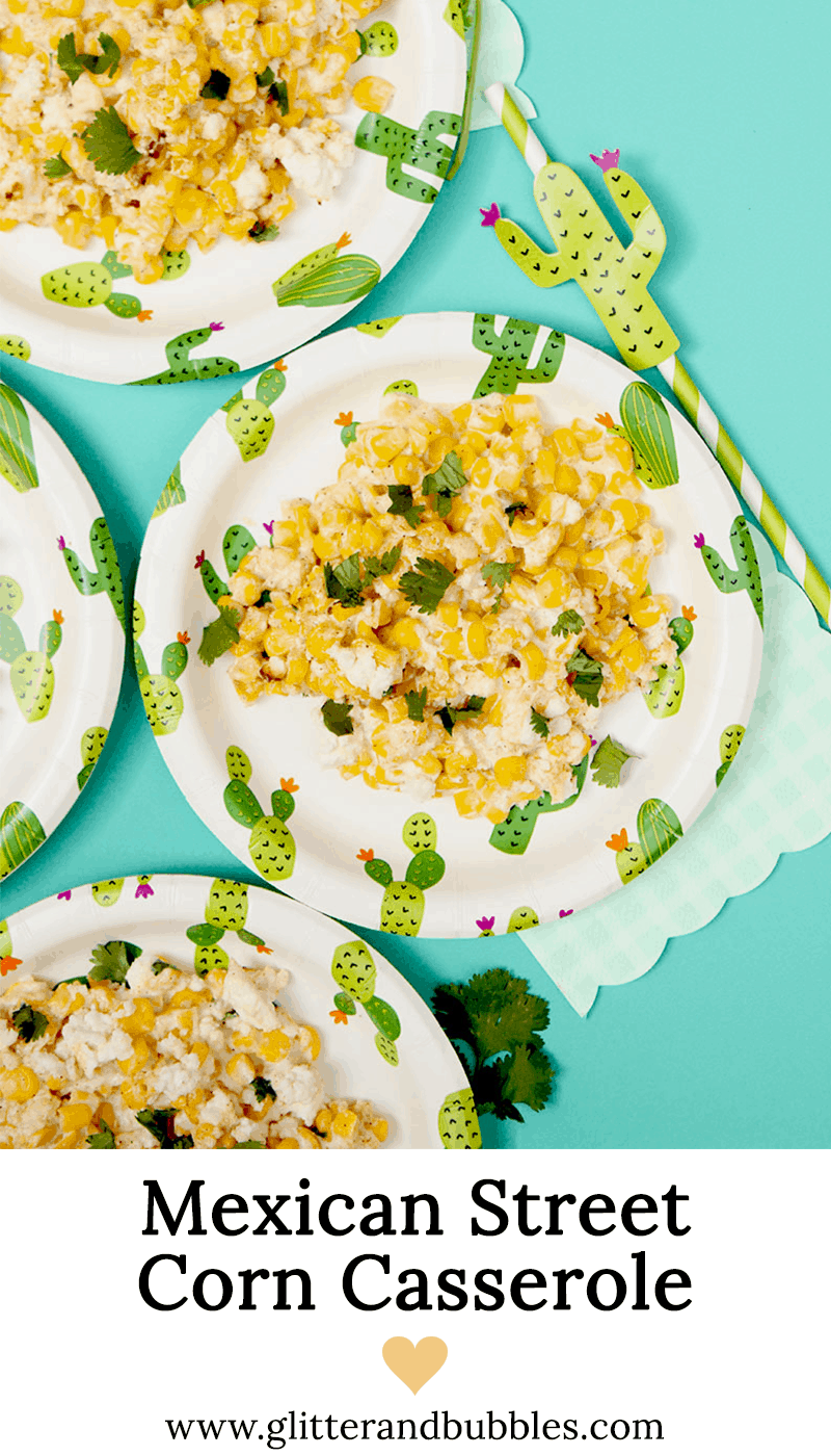 An easy and delicious recipe for Mexican Street Corn Casserole.