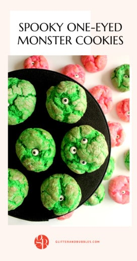 How to make one eyed monster cookies with Glitter and Bubbles.