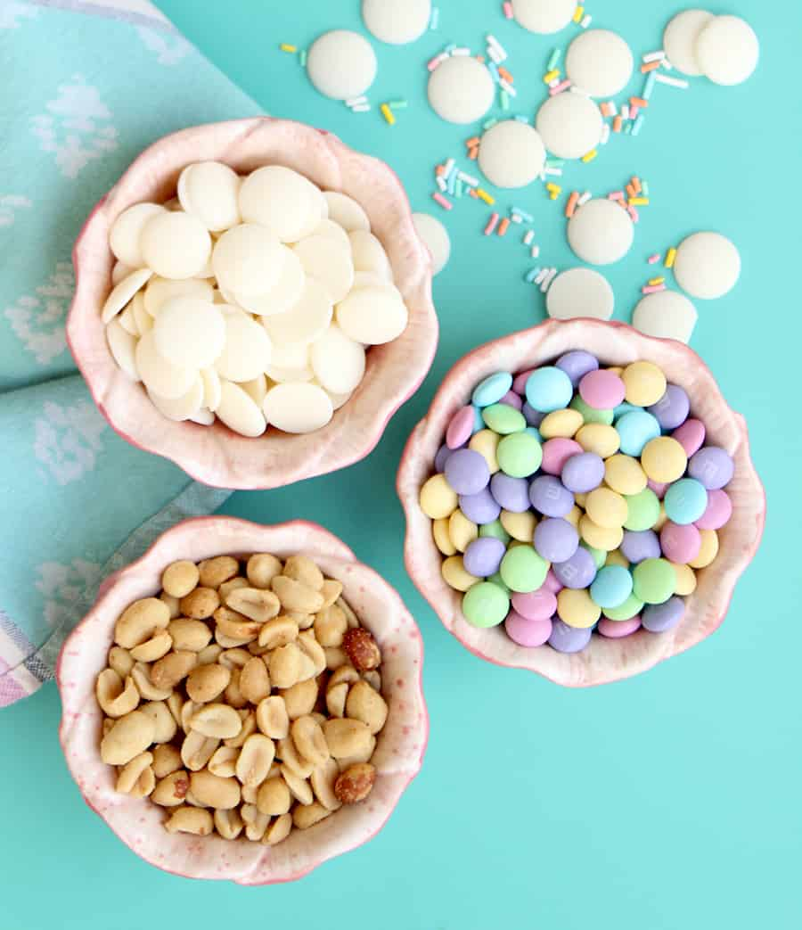 Ingredients for the easiest Easter Treats.
